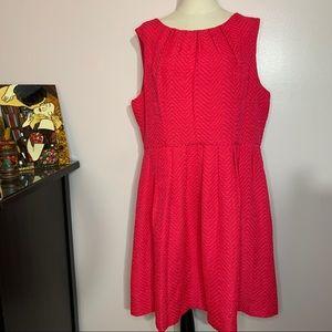 Ellen Tracy vibrant pink A-line dress
